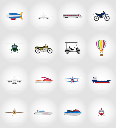 high speed train: transport flat icons vector illustration isolated on background