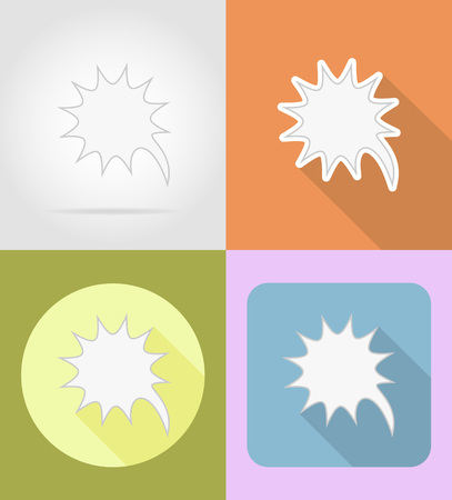 information medium: speech bubbles flat icons vector illustration isolated on background