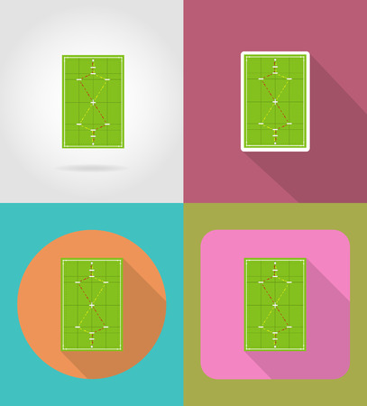 wicket gate: playground for croquet flat icons vector illustration isolated on background