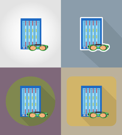 competitions: swimming pool flat icons vector illustration isolated on background