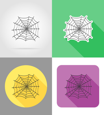 wed: spider wed flat icons vector illustration isolated on background Stock Photo