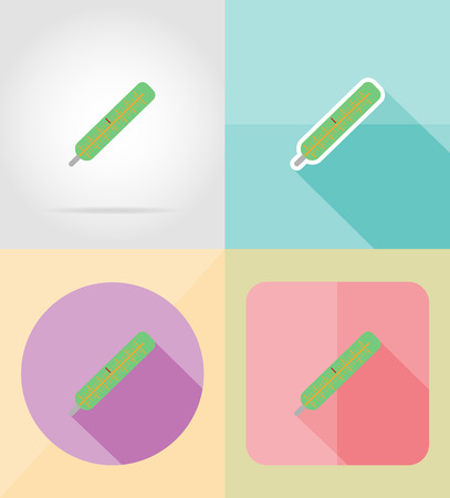 group therapy: service medicine flat icons vector illustration isolated on background Stock Photo
