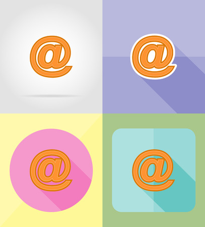 preservation: internet service flat icons vector illustration isolated on background Stock Photo