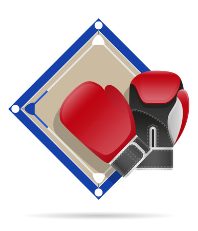 knockdown: boxing ring vector illustration isolated on white background