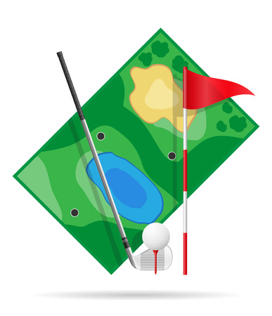 putting green: field for golf vector illustration isolated on white background