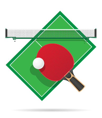 ping pong table vector illustration isolated on white background Stock Photo