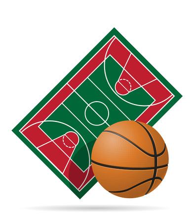 nba: basketball court vector illustration isolated on white background