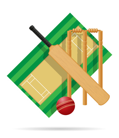 playground for cricket vector illustration isolated on white background Stock Photo