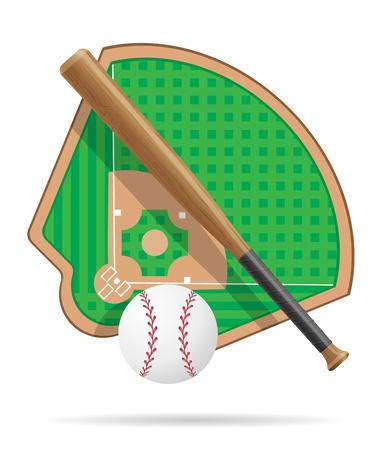 baseball field vector illustration isolated on white background Stock Photo