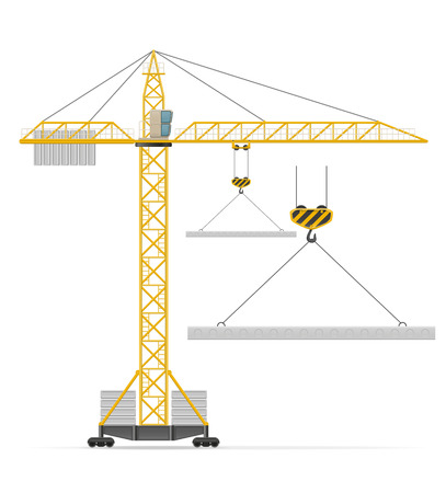 weight machine: building crane vector illustration isolated on white background