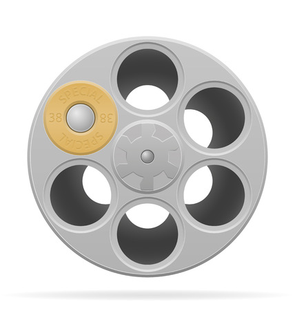 revolver cylinder vector illustration isolated on white background 스톡 콘텐츠