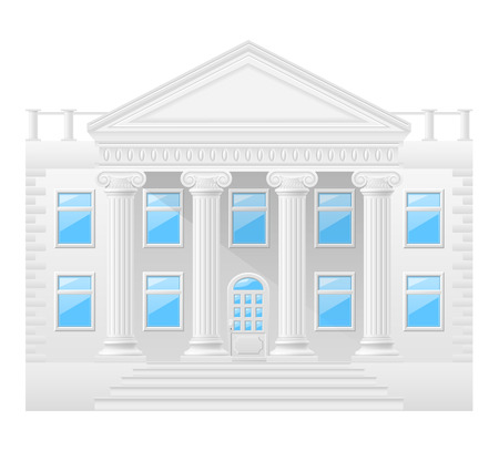antiquities: antique building stock vector illustration isolated on white background Stock Photo