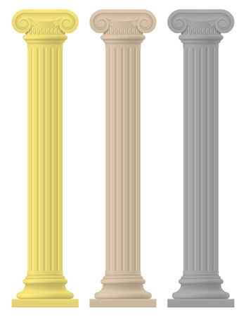 ancient civilization: antique column stock vector illustration isolated on white background