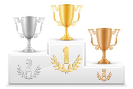 sport winner podium pedestal stock vector illustration isolated on white background