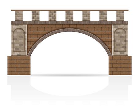 Pont en pierre stock illustration vectorielle isolé sur fond blanc Banque d'images - 71656244