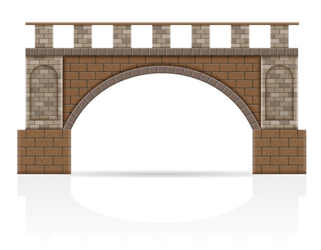 stone bridge stock vector illustration isolated on white background Stock Photo