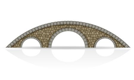 stone bridge stock vector illustration isolated on white background Stock Photo