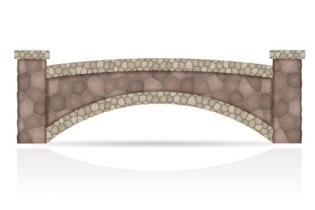 Pont en pierre stock illustration vectorielle isolé sur fond blanc Banque d'images - 71656247