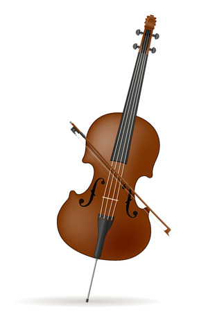 cello stock vector illustration isolated on white background