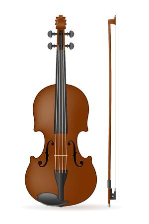 violinista: Ilustración de stock vector de violín aislado sobre fondo blanco Foto de archivo