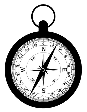 compass old retro vintage icon stock vector illustration isolated on white background