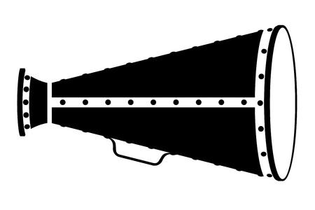 silver: megaphone old retro vintage icon stock vector illustration isolated on white background Stock Photo