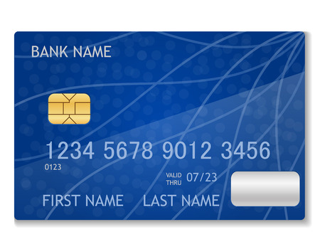 bank card stock vector illustration isolated on white background
