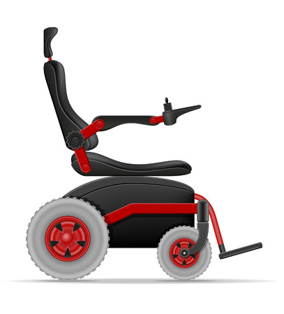 electric wheelchair for disabled people stock vector illustration isolated on white background