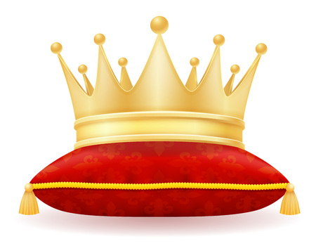 king royal golden crown vector illustration isolated on white background