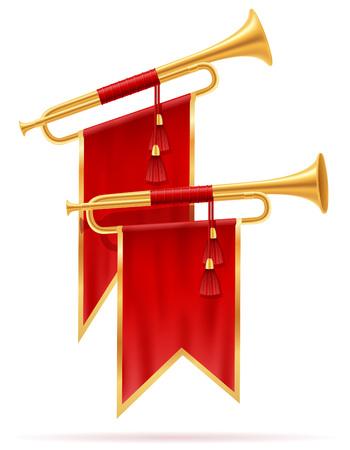 king royal golden horn vector illustration isolated on white background Stock Photo