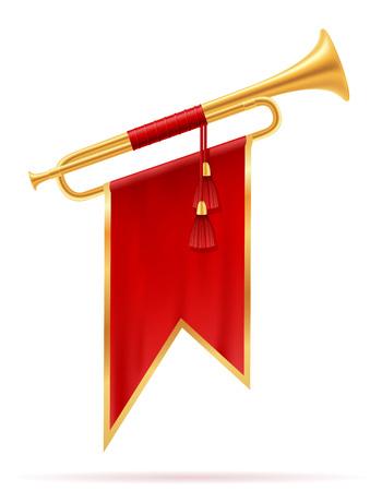 king royal golden horn vector illustration isolated on white background Stockfoto