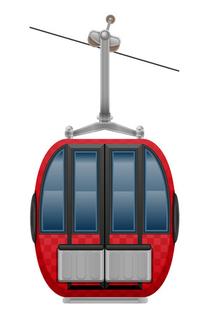 cabin ski cableway vector illustration isolated on white background