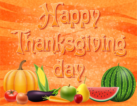 text happy thanksgiving day vector illustration isolated on background