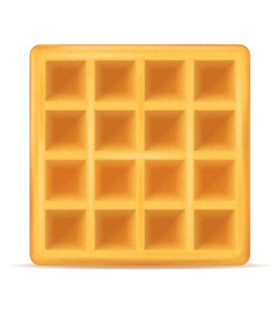 belgian waffle sweet dessert for breakfast vector illustration isolated on white background