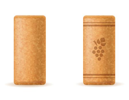 corkwood cork for wine bottle vector illustration isolated on white background Stock fotó
