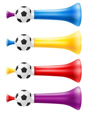 horn attribute football soccer and sports fans vector illustration isolated on white background