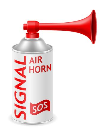 air horn for rescue sos or sports signals vector illustration vector illustration isolated on white background Stok Fotoğraf