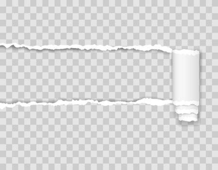 illustration de vecteur de bord de papier déchiré isolé sur fond transparent