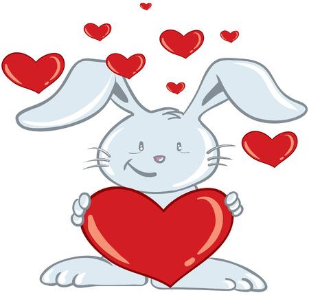 vector valentines day bunny