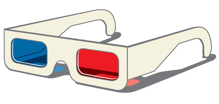 3D glasses - side view on white background