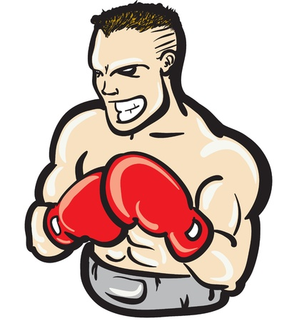 fierce boxer illustration Illustration