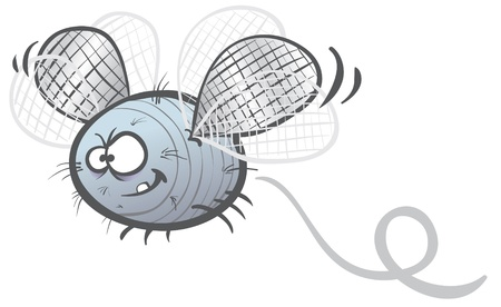 cartoon illustration of a fat  fly soaring Illustration