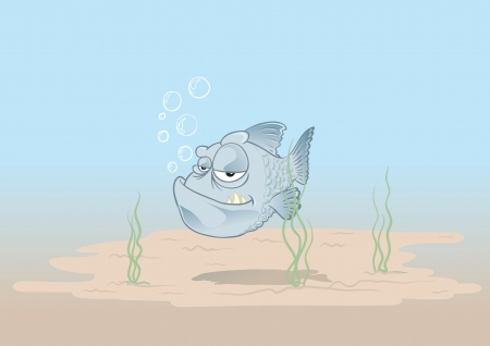 lonesome: lonesome fish swimming in the deep sea