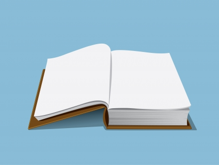 illustration of an empty book that you can use to add content to its empty pages Illustration