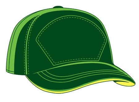 illustration of a green baseball cap Illustration
