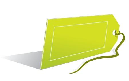 illustration of an empty price label Illustration