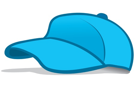 Illustration of a blue baseball cap