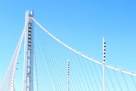 span: San Francisco - Oakland Bay Bridge New Tower Stock Photo