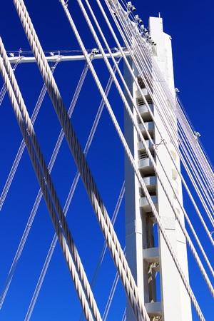 oakland: San Francisco - Oakland Bay Bridge New Tower Stock Photo