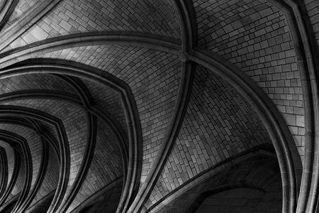 vaulted: Conciergerie Vaulted Ceiling Interior in Paris, France